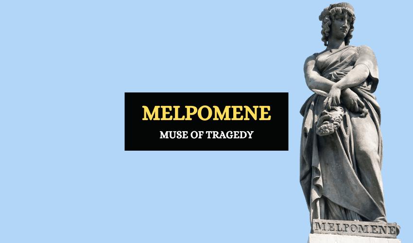 Melpomene muse of tragedy in Greek mythology