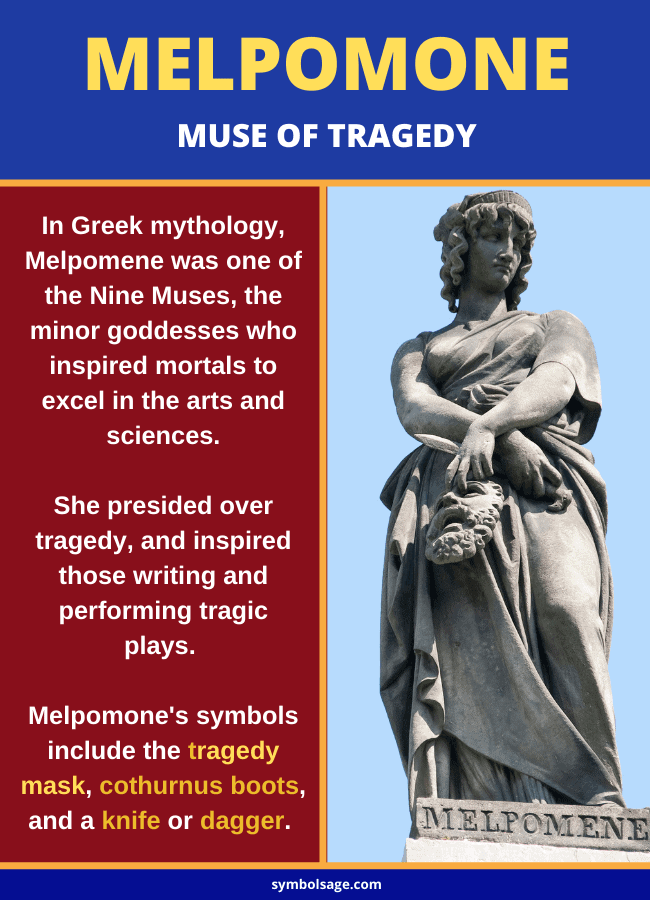 Melpomone muse of tragedy