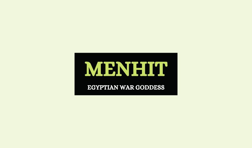 Menhit Egyptian goddess