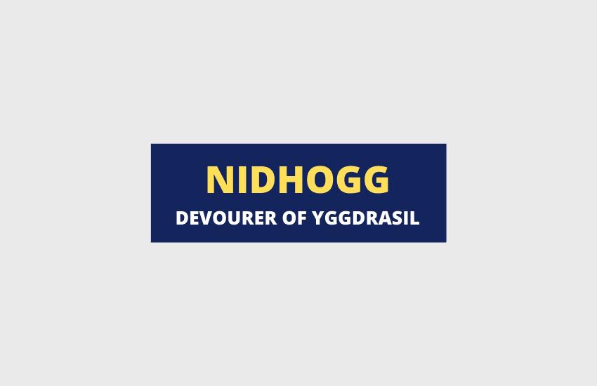 Nidhogg Norse mythology