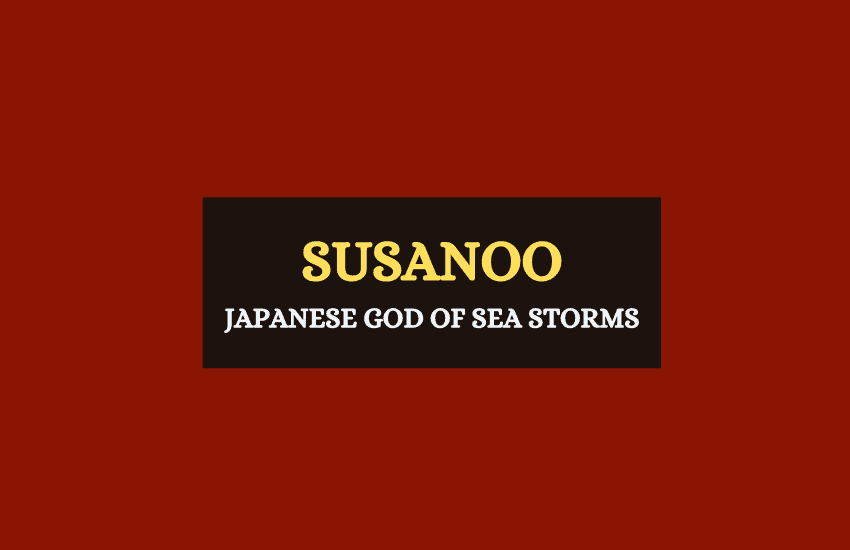 Susanoo Japanese god of sea storms