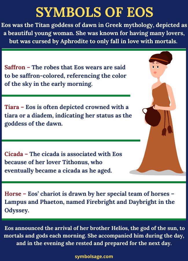 Symbols of Eos goddess