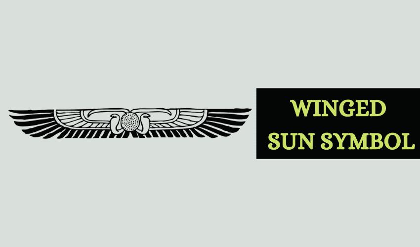 Winged sun symbol Egypt
