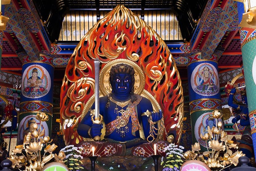 Fudo myoo appearance depiction symbolism