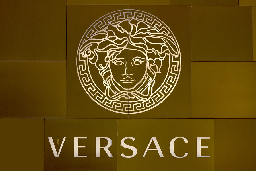 Gorgon head logo Versace