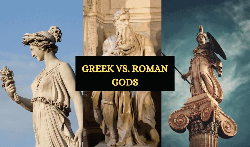 Greek vs Roman gods a breakdown
