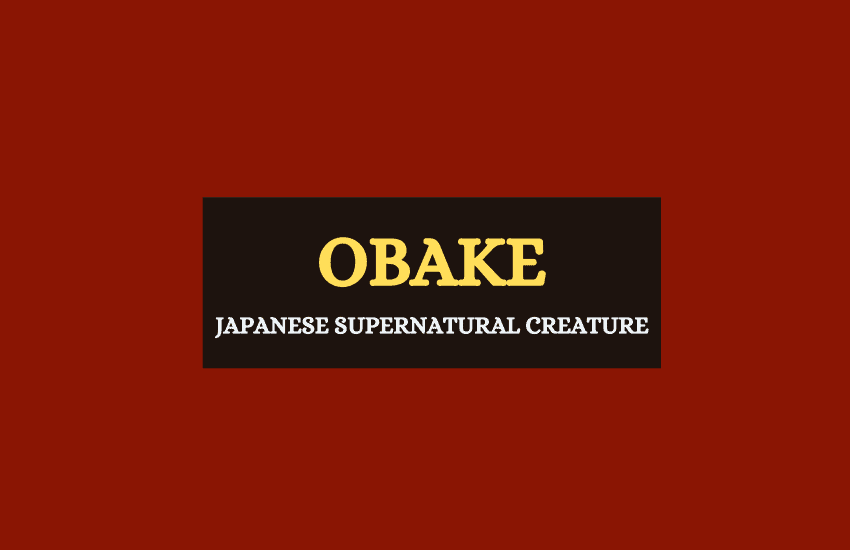 Japanese Obake creature
