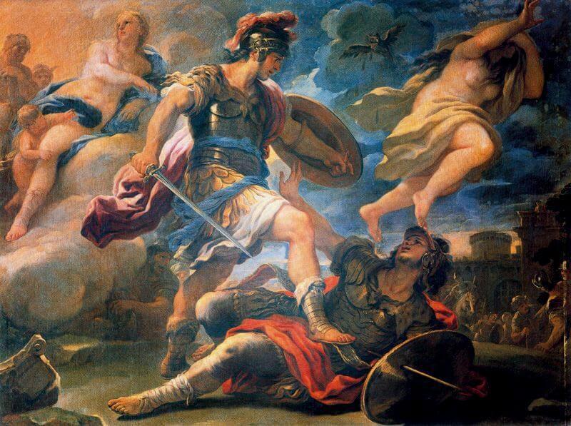 Aeneas and Turnus