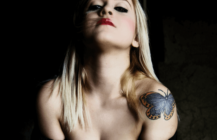 Butterfly tattoo placement