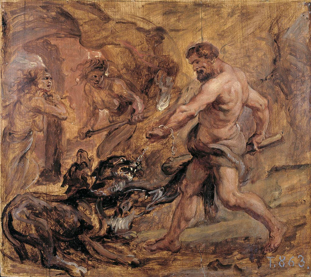 Cerberus and Heracles