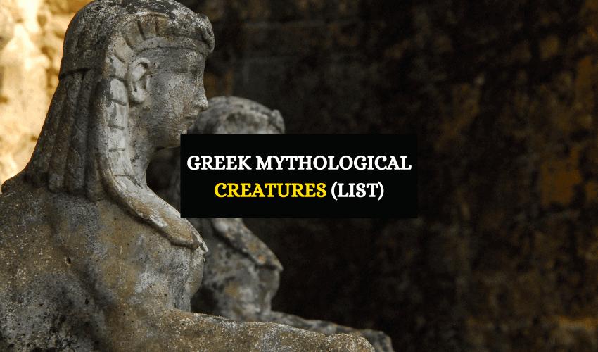 List of Greek mythological creatures