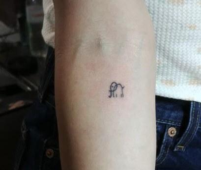 Lucy Hale elephant tattoo