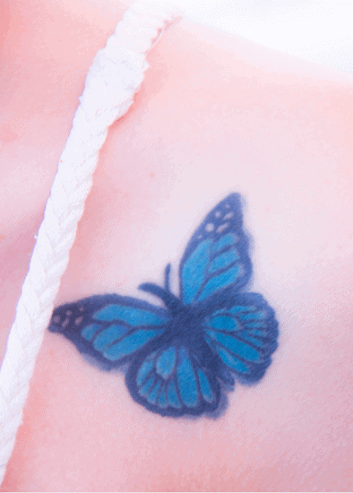 Butterfly tattoo colorful