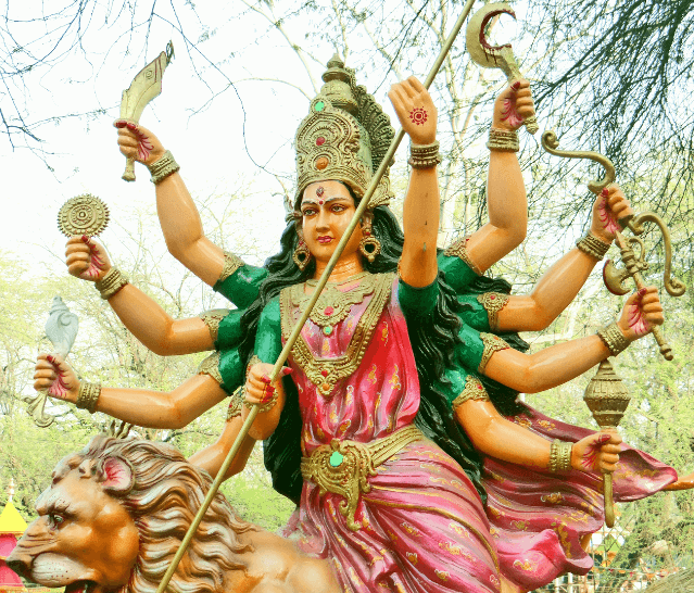 Symbolism of Durga goddess