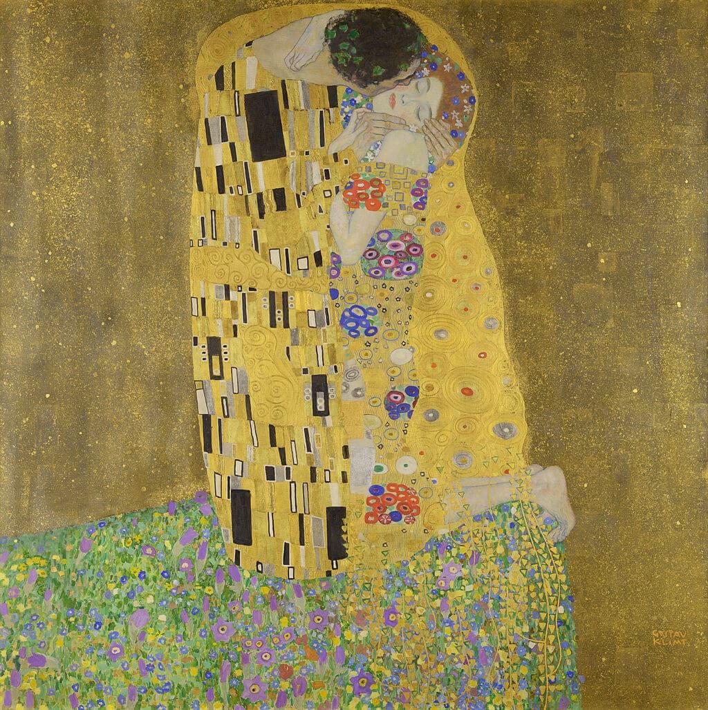 The kiss Gustav Klimt