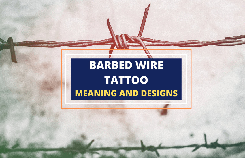 Barbed wire tattoo meaning and significance