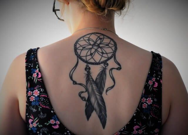 Dramcatcher tattoo woman