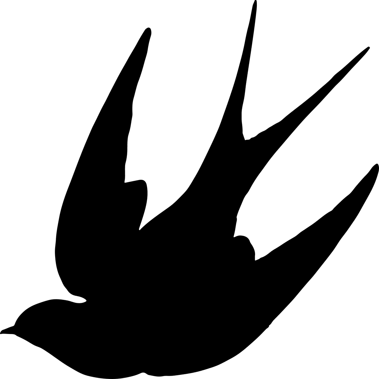 Swallow silhouette tattoo