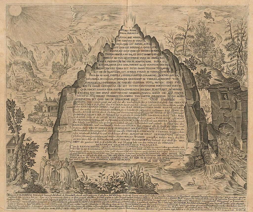Emerald tablet of Toth depiction