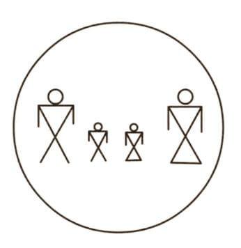 Family circle symbol