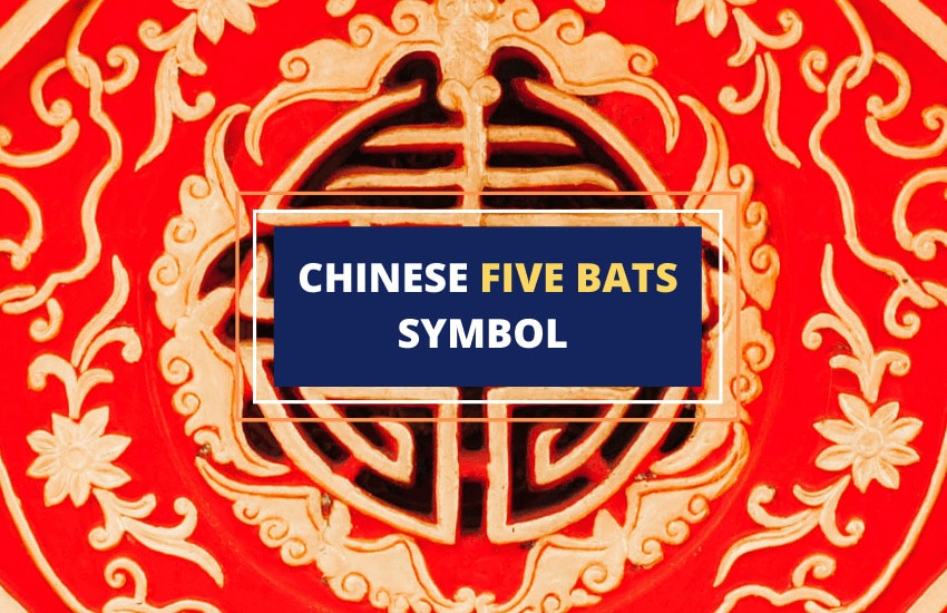 Five bats symbol Chinese blessings