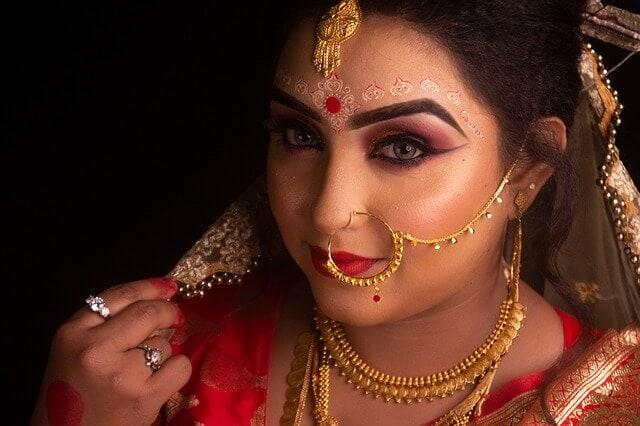 Indian bride nose ring