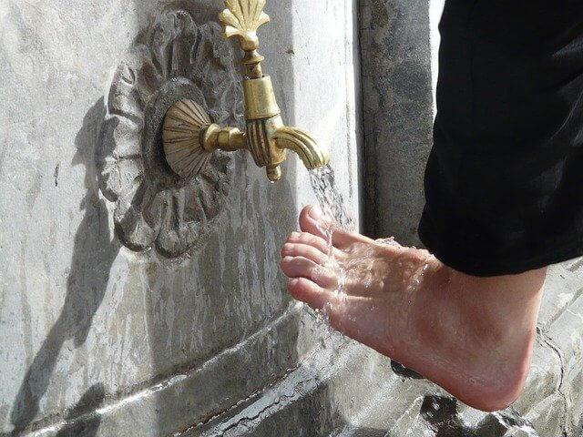 Islam washing process before prayer