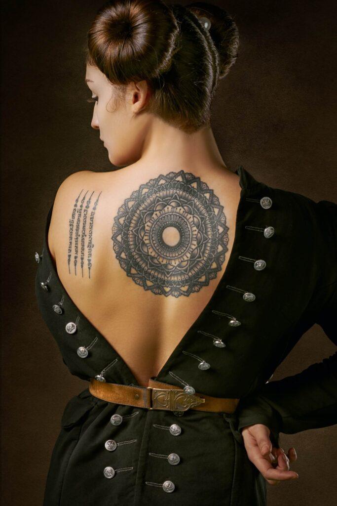 Mandala tattoo style