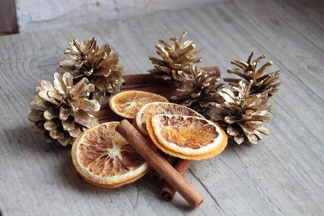 Pinecone at Christmas