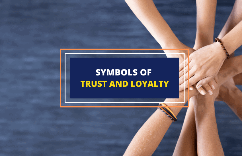 Symbols of trust loyalty with meanings