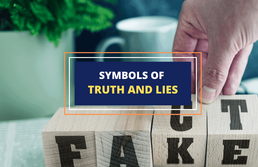Symbols of truth and lies