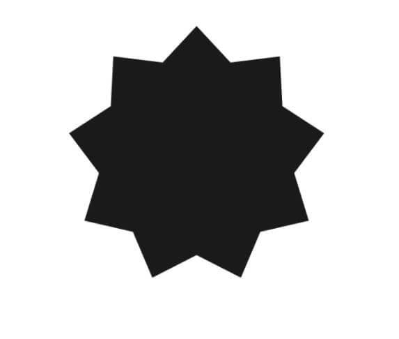 Bahai 9 pointed star