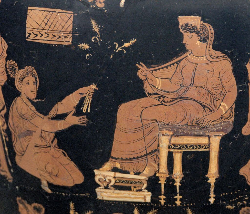 Demeter enthroned
