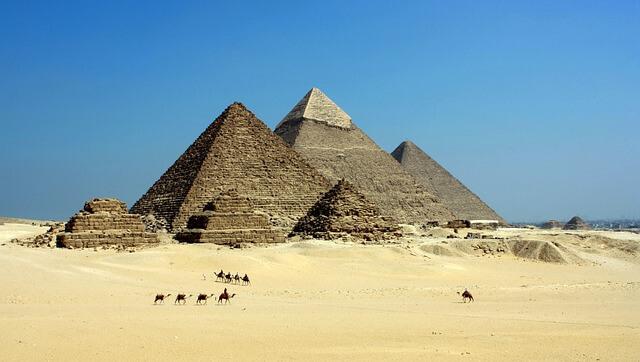 Pyramids and north star