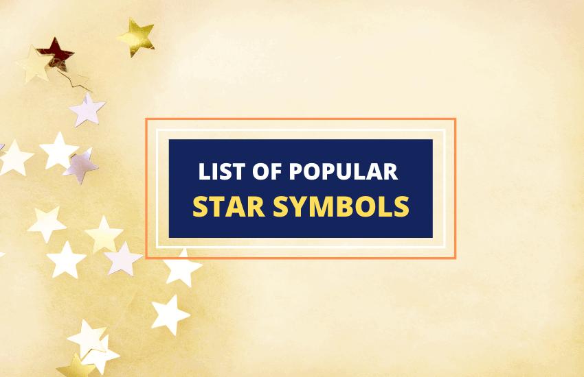 Star symbols meaning