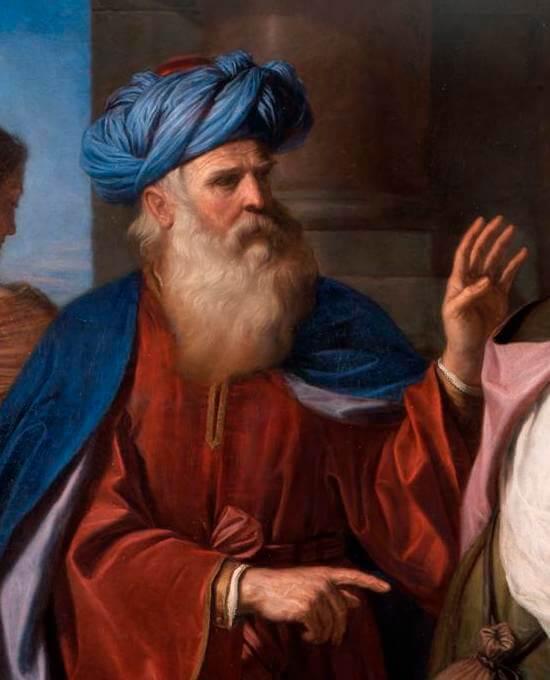 Guercino Abramo ripudia Agar