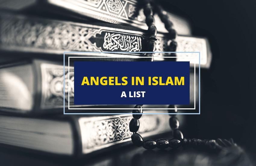 Angels names in Islam list