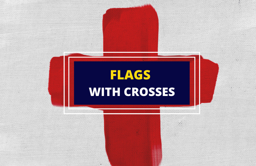 Flags with crosses list