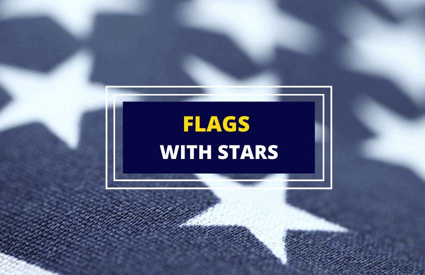 Flags with stars list