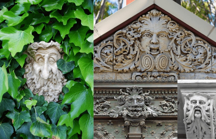 Images of green man