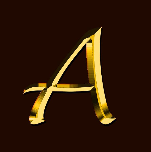 Letter a symbol