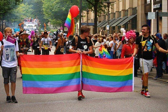 Rainbow colors flags