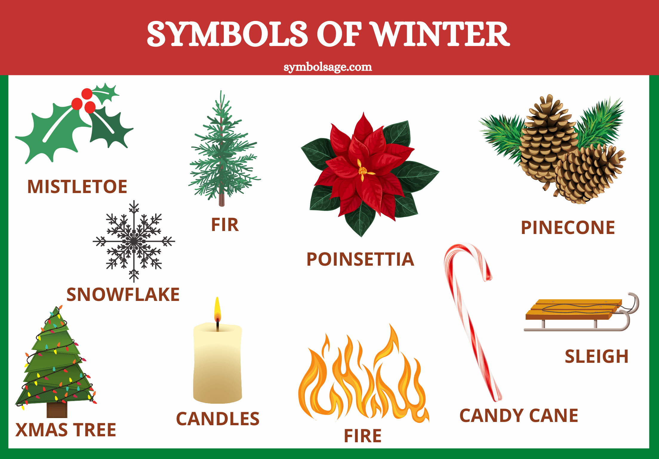 Symbols of winter