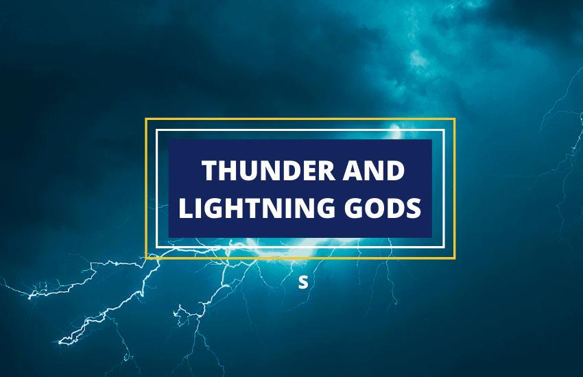 Thunder and lightning gods list