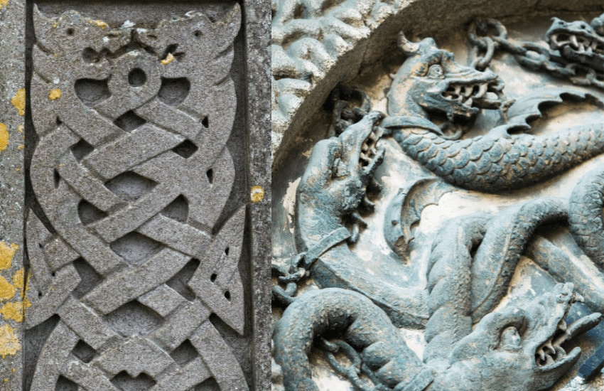 Types of Celtic dragons