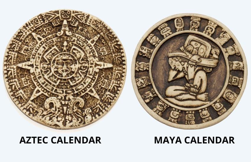 AZTEC VS MAYA CALENDAR Side by Side