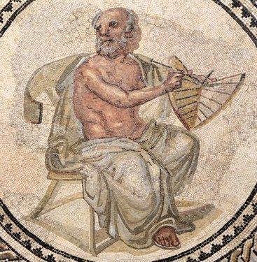 Anaximander Mosaic Greek philosopher