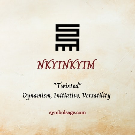 Nkyinkyim symbol meaning