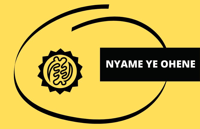 Nyame Ye Ohene adinkra symbol