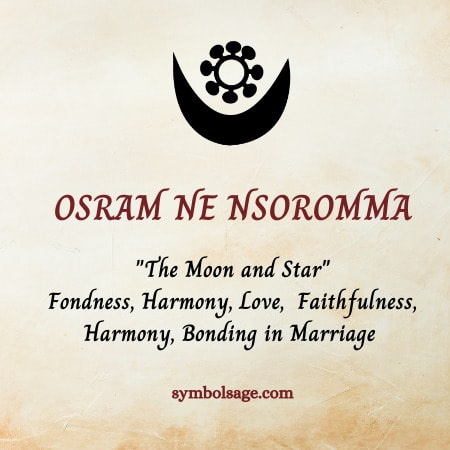 Osram-ne-Nsoromma symbolism
